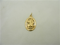 Saint Christopher medallion 14 k yellow gold