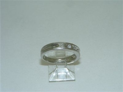 """2000"" Diamond Platinum band"