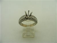 14k white gold 6 prongs bridal setting diamond ring