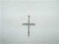 Beautiful 14k white gold diamond pendant