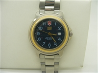 Swiss army water resistant watch gold plated case