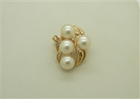 14K Yellow Gold Pearl Enhancer