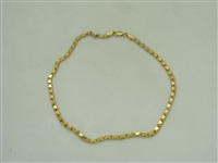 14k yellow gold heart ankle bracelet
