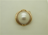 14K Yellow Gold Mabe Pearl Enhancer