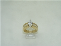 14k yellow gold cubic zircon engagement ring
