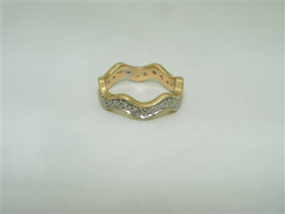 14k yellow gold eternity diamond ring band