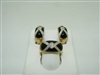 14k yellow gold special onyx and diamond set