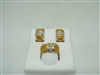 2 tone 18k yellow gold set