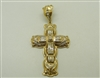 14 K Yellow Gold Cross Pendant