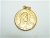 14k Yellow Gold Religious Medal