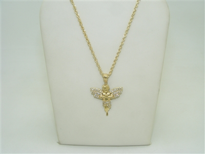 10k yellow gold Angel cubic zircon