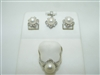 Beautiful diamond and cultured pearl set