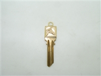 14k yellow gold head doubled sided horse key chain