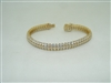 14k yellow gold cubic zircon  bracelet