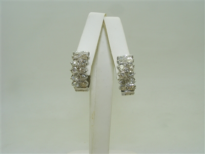 *Pre Owned*  1970's vintage diamond hoop earrings