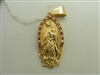 14k yellow gold Cubic zirconia Virgin Guadalupe