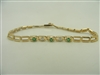 14k yellow gold diamond and emerald ladies bracelet