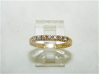Diamond Thin Yellow Gold Band