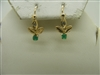 14k yellow gold cubic zircon and emerald