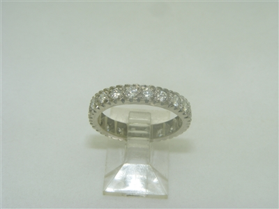 14k white gold eternity wedding band