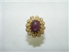 Vintage Indian Natural red star diamond ring
