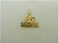 14k yellow gold #1 Daughter pendant