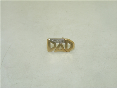 10k yellow gold DAD tie pin