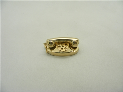 14 K Yellow Gold Vintage Telephone Charm