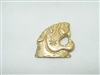 14k yellow gold tiger pendant with a diamond