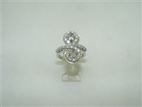 18k white gold designed diamond ring (setting)