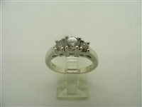 14k white gold 3 diamonds Anniversary ring