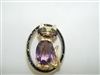 Beautiful Amethyst, Emerald and Blue sapphire cat pin