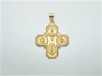 14k yellow gold cross (I am a catholic call a priest)  pendnat