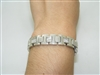 14k white gold diamond mens bracelet