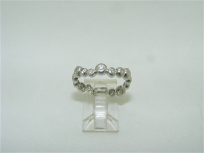 14k white gold Designed eternity band