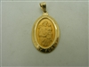 "14k yellow gold Saint Joseph ""pray for us"" pendant"