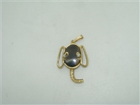 Elephant diamond and Tiger eye stone pendant