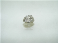 vintage 14k white gold designed diamond ring