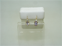 18k yellow gold light amethyst Cubic zircon