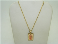 14k yellow gold Saint Guadalupe necklace