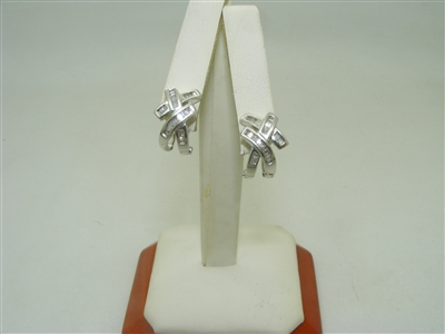 """X"" Diamond french clip earrings"