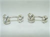 TIFFANY DOUBLE KNOT CUFF LINKS STERLING SILVER