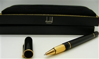 Alfred Dunhill Sidecar Black Resin Gold Plated Roller Ball Pen.