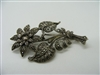 Vintage 1945 Marcasite Flower Pin (925 Sterling Silver)
