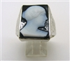 Vintage Cameo 14kt White Gold Ring