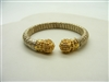Alwand Vahand Silver & 14K Yellow Gold Bangle Bracelet