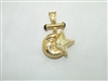 Star Moon Yellow Gold Pendant