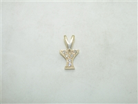 "14k Yellow Gold Diamond ""Y"" Initial"