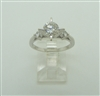 4 PRONG 14K WHITE GOLD DIAMOND ENGAGEMENT RING