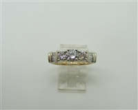 1.07 TCW 14 K Yellow Gold Diamond Anniversary Ring